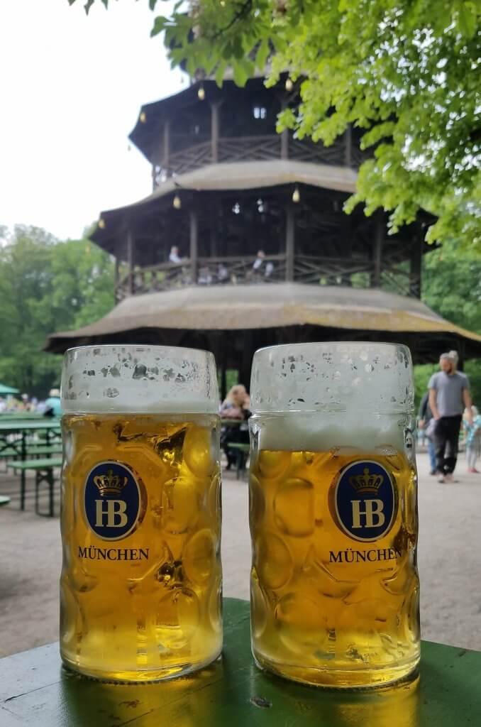 Germany Munich ChinesischerTurm Liter Beer Pagoda