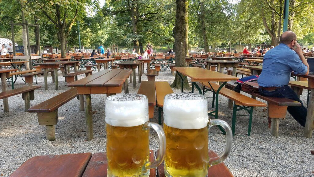 Germany Munich Hirschgarten Beer Tables