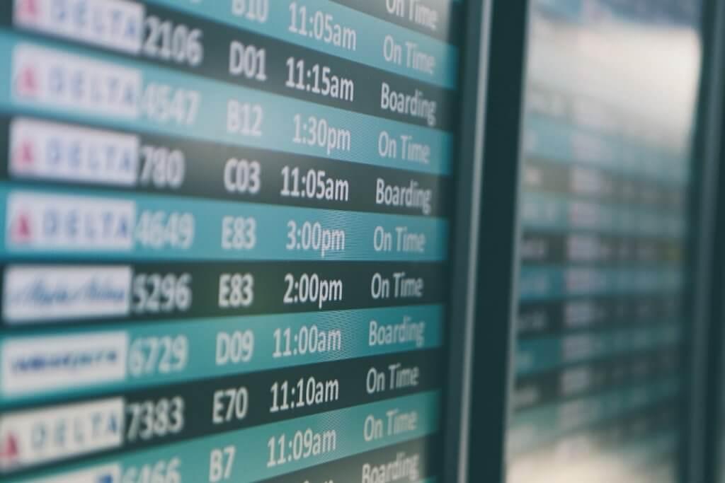 Airport Flight Arrival Departure Display