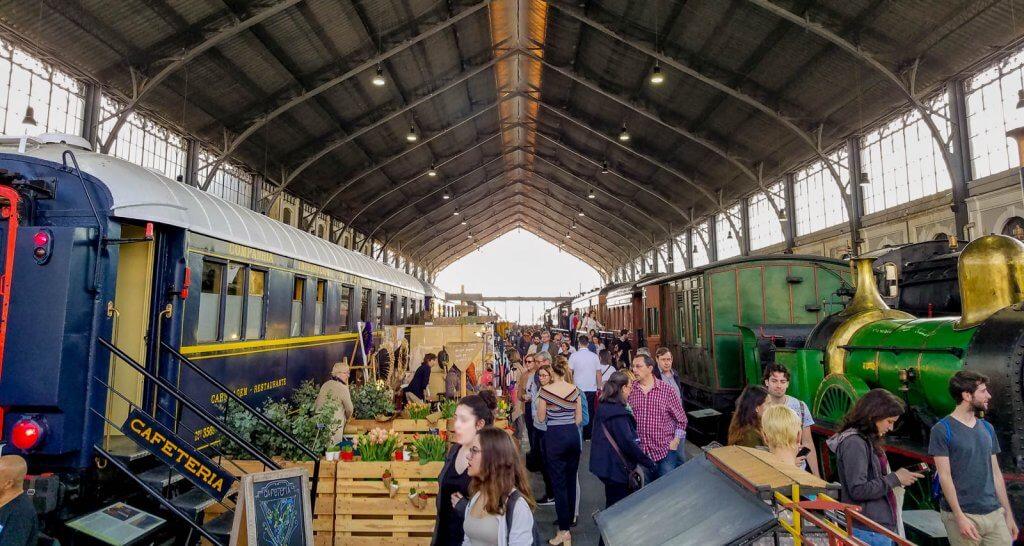 Madrid Spain Mercado Motores Monthly Market Train Museum
