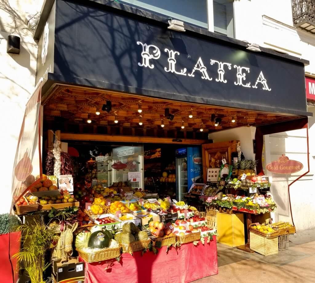 Madrid Spain Platea Market Restaurants