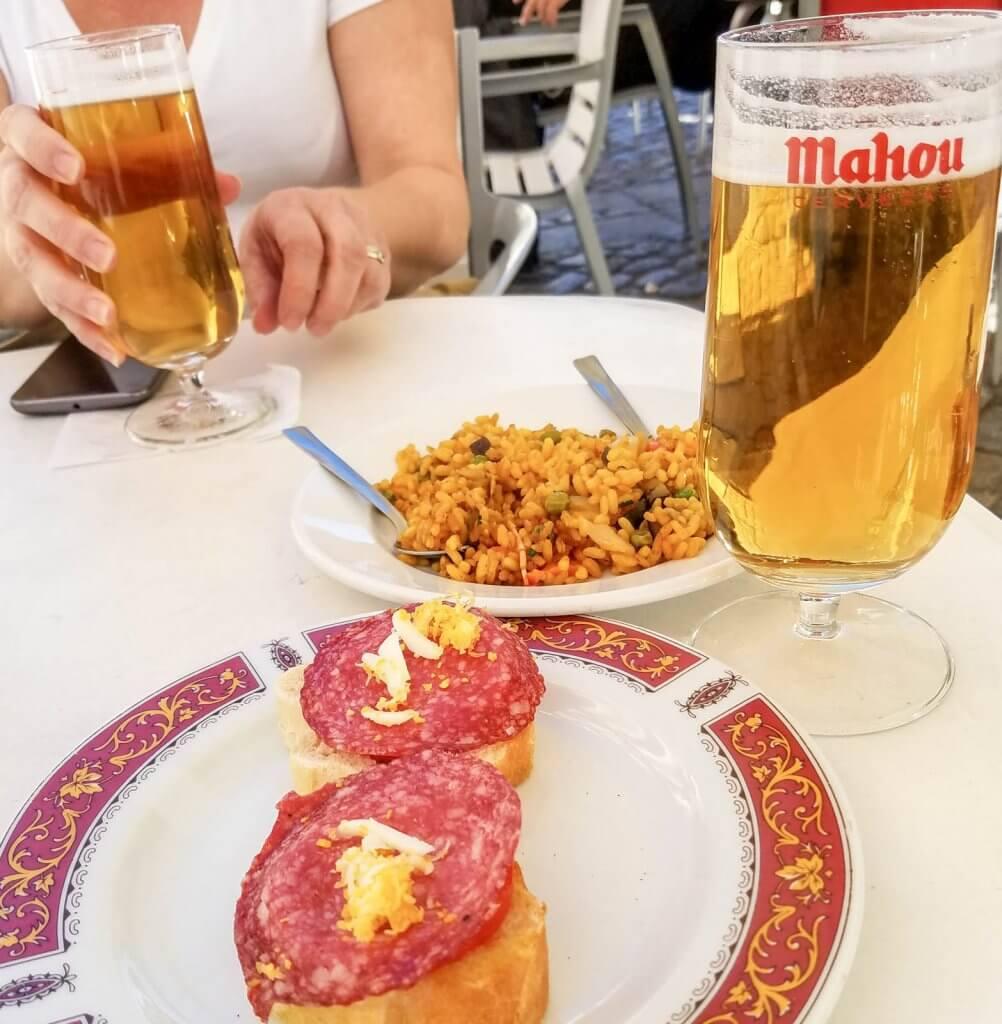 Madrid Spain Mahou Beer Tapas