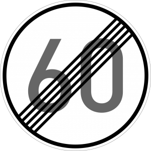 Germany end maximum speed limit sign