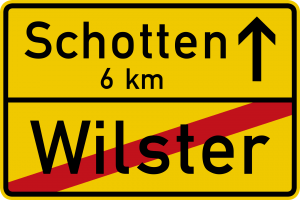 Germany end urban area road sign