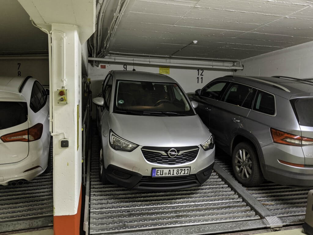 Germany parking garage small spaces