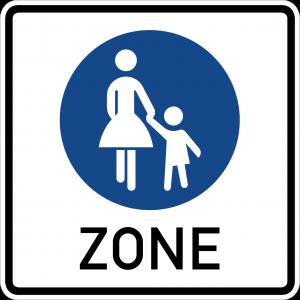 Germany pedestrian zone sign