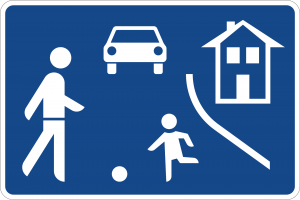Germany pedestrian zone road sign
