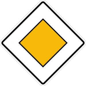 Germany priority road sign