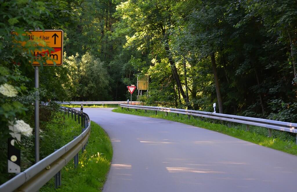 Germany Rural Road in Forest