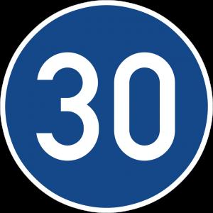 Germany start minimum speed limit