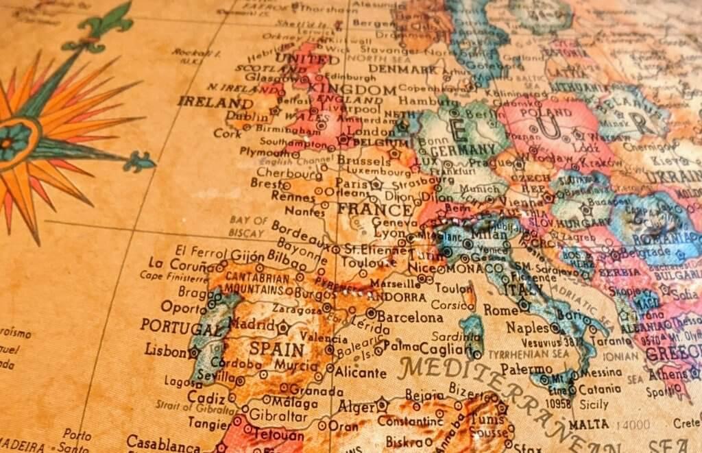Europe Globe Map