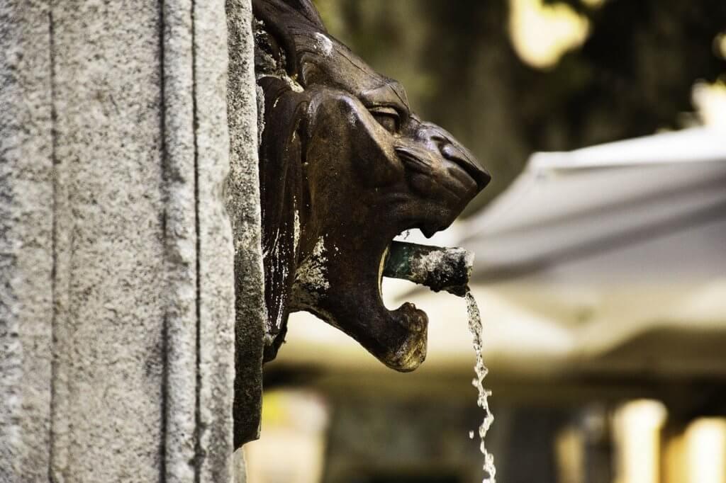 Aix en Provence lion head fountain