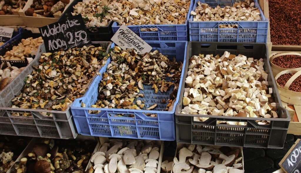 Germany market mushrooms