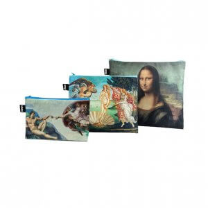 Louvre zipper pouches with art detail