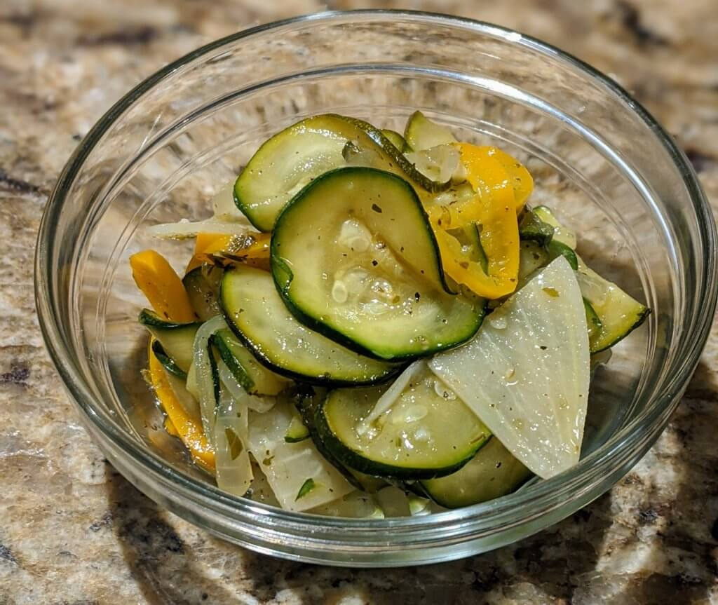 Marinated Zucchini recipe final product side dish