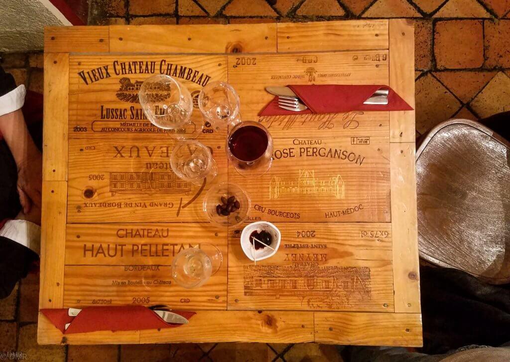 France Aix-en-Provence Le Petit Verdot table overhead