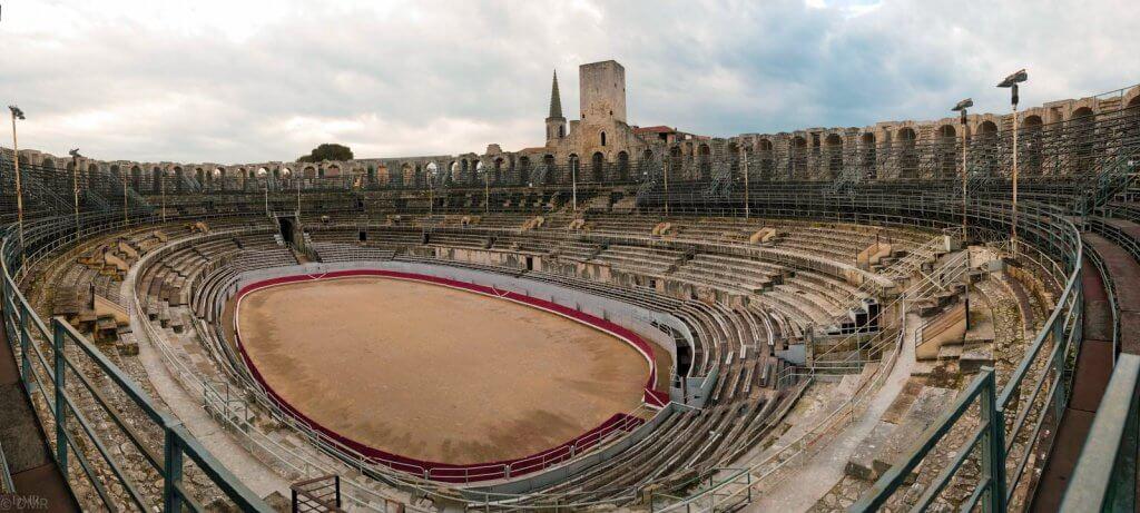 France, Arles Roman amphitheater