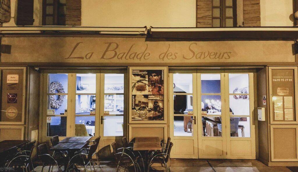 France LIsle-sur-la-Sorgue La Balade des Saveurs restaurant exterio