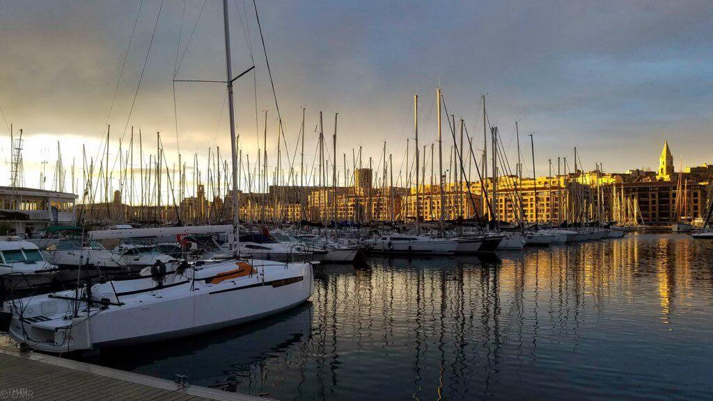 France Marseille golden sunset VieuxPort