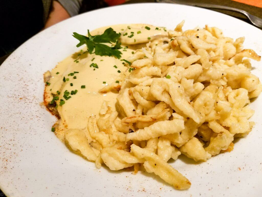 France Mulhouse veal in mustard sauce with Spätzle