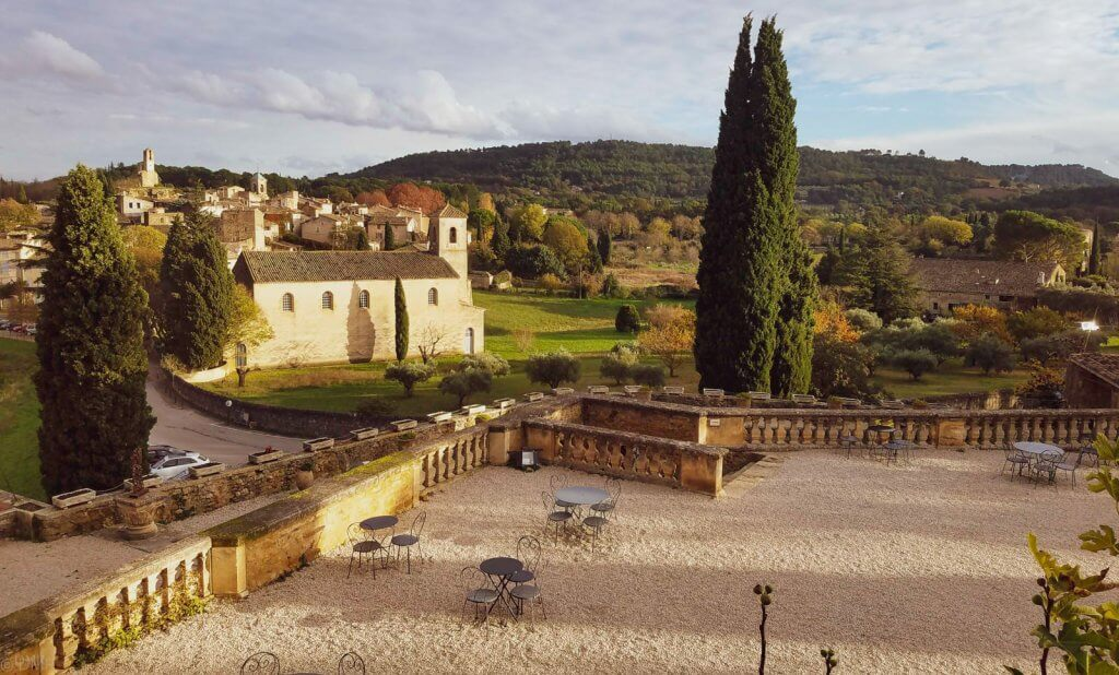 France Provence Lourmarin view from chateau