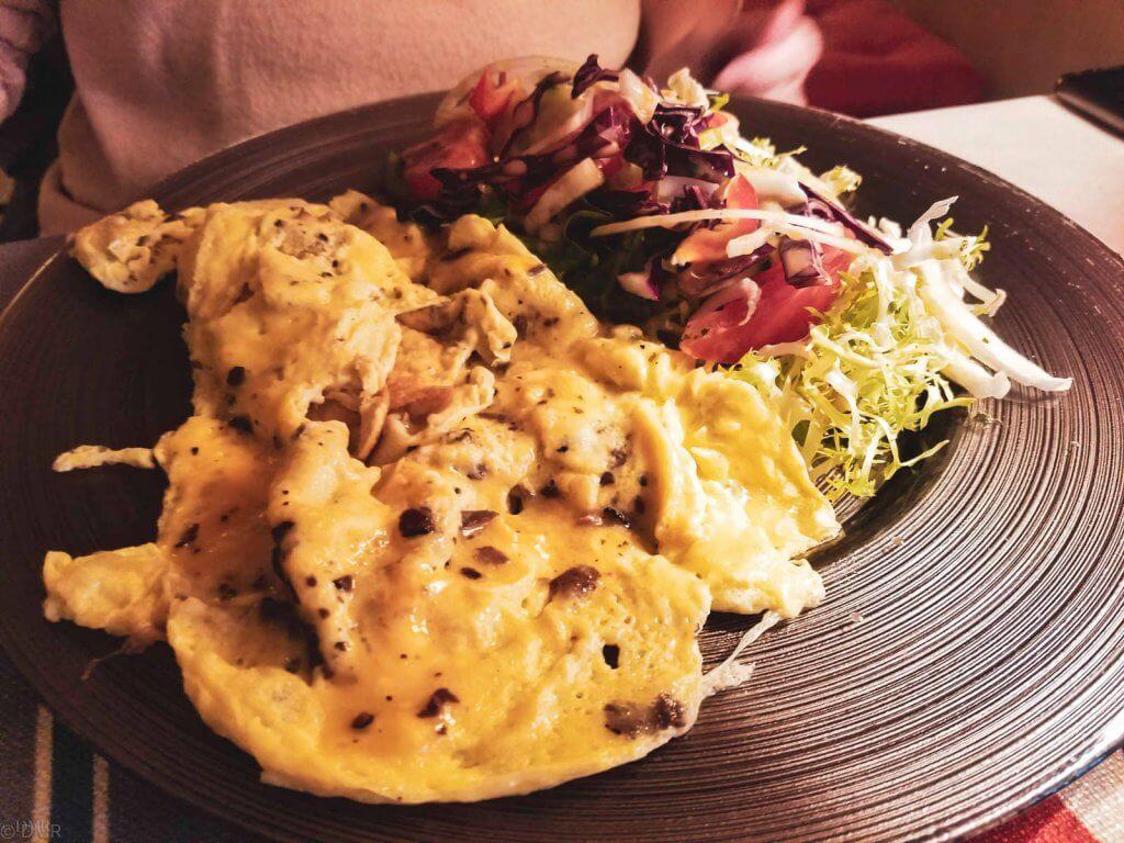 France Provence Roussillon truffle omelette