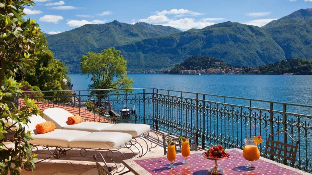 Grand Hotel Tremezzo balcony Lake Como, Italy