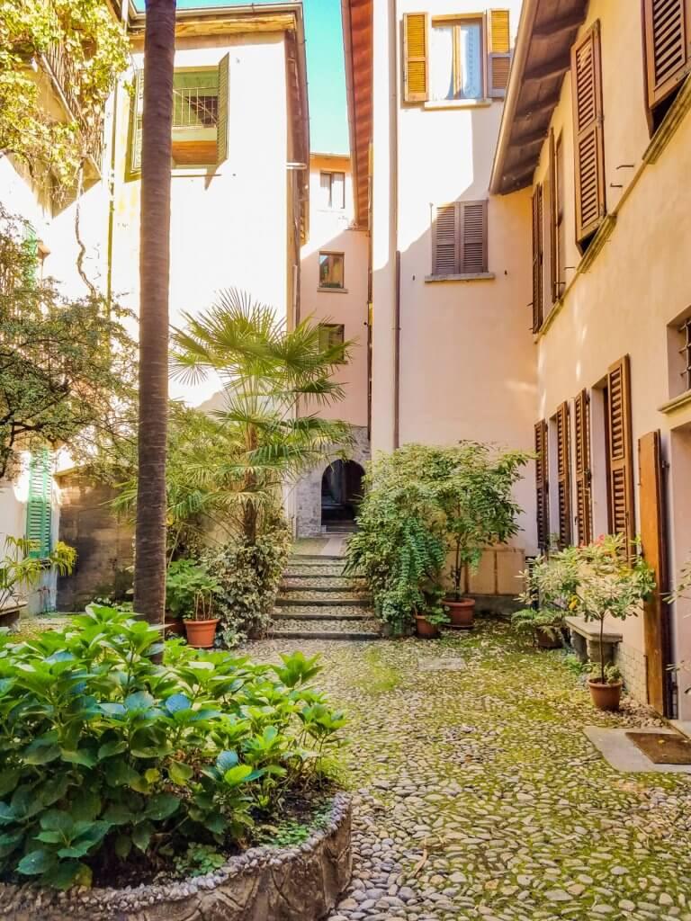 Lake Como Italy Bellano Courtyard