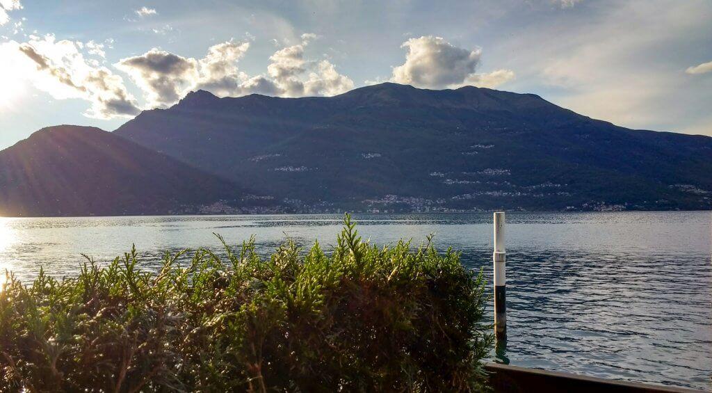Lake Como Bellano sunset view
