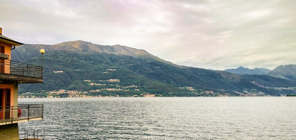 Lake Como view from Hotel Meridiana cloudy day