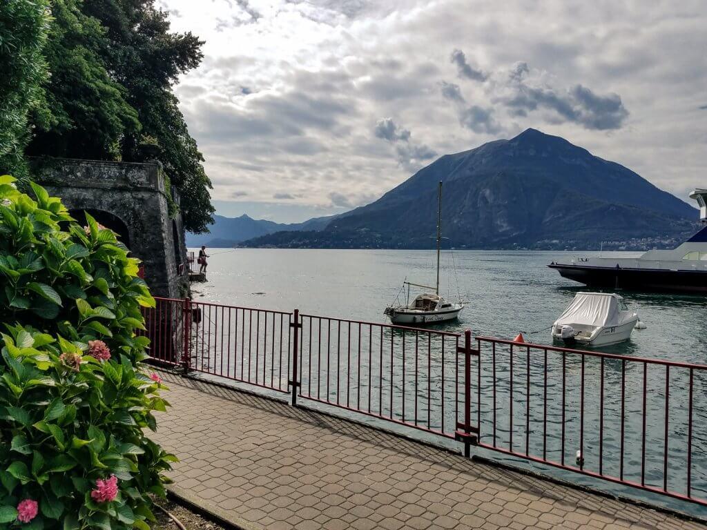 Lake Como Italy Varenna boats walkway